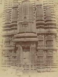 Close view of the south façade of the shrine of the Brahmeshvara Temple, Bhubaneshwar
